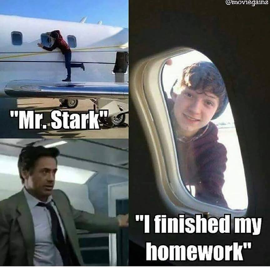 Memes of Spideman vs Iron man