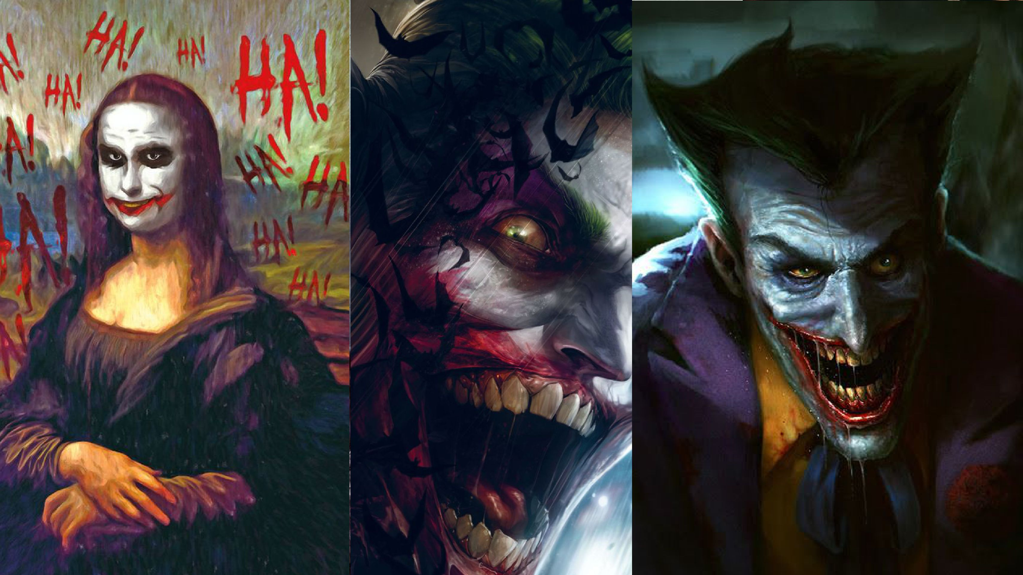 30 scary concept art of the joker clown prince of crime that will