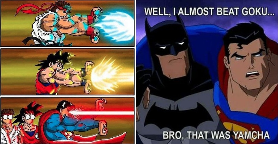 25 super dank goku vs superman memes that show who s the real hero
