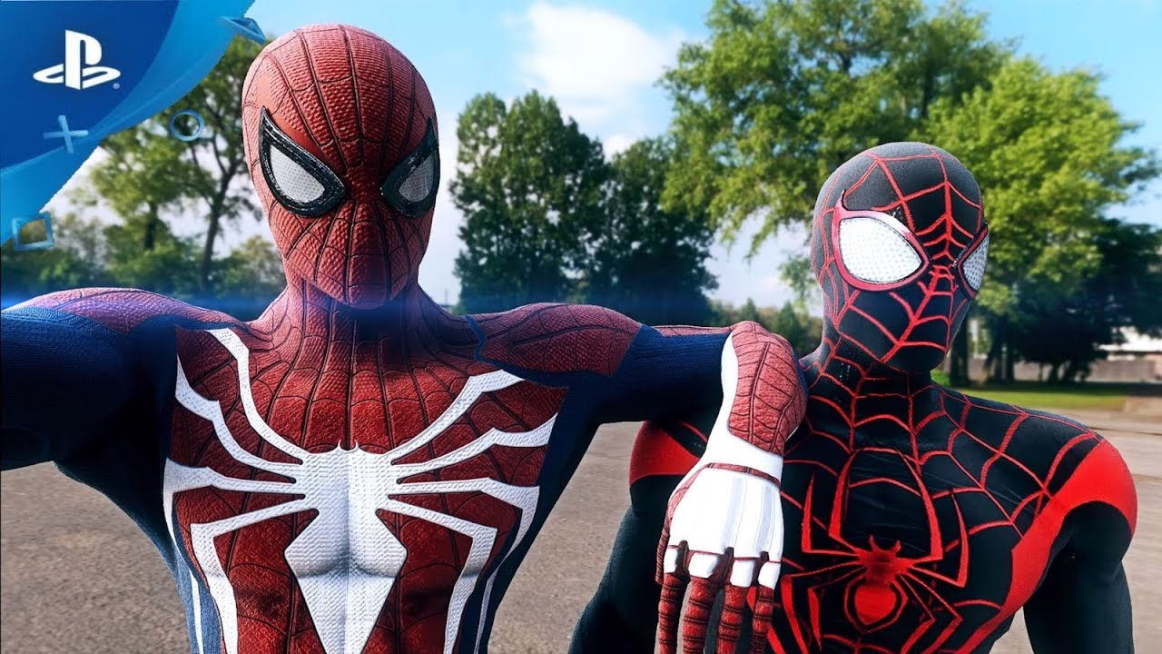 spider man ps4 secret war costume along with two more classic