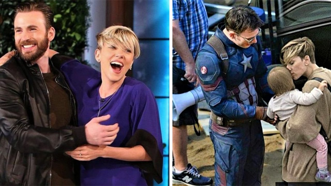 33 Times Scarlett Johansson And Chris Evans Showed Us What Perfect Friendship Means Animated Times