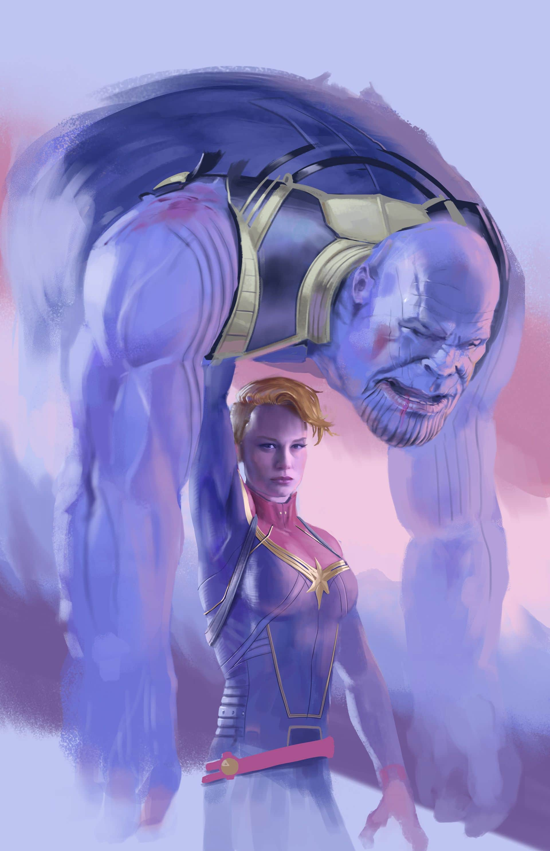 Thanos Captain Marvel