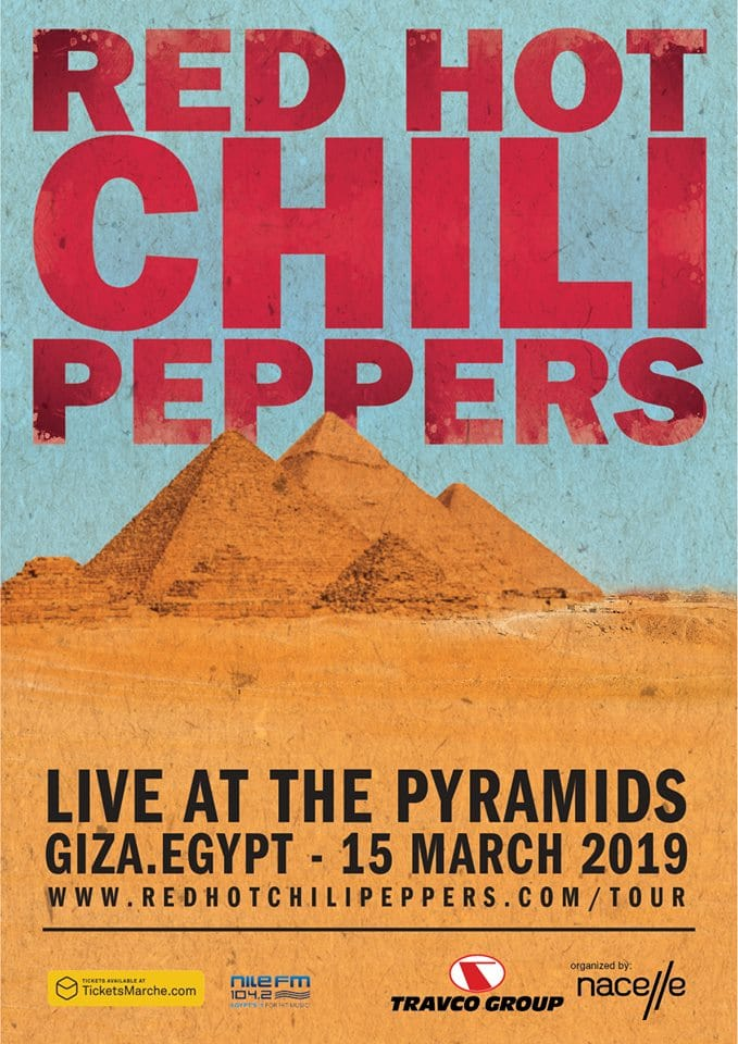 Red Hot Chilli Peppers Pyramid Egypt Performance