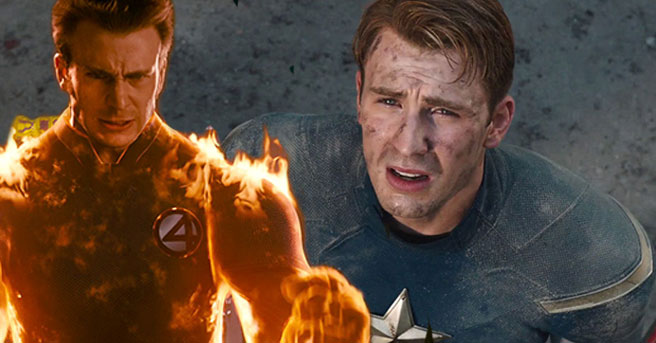 Chris Evans Human Torch Johnny Storm Captain America Fantastic Four