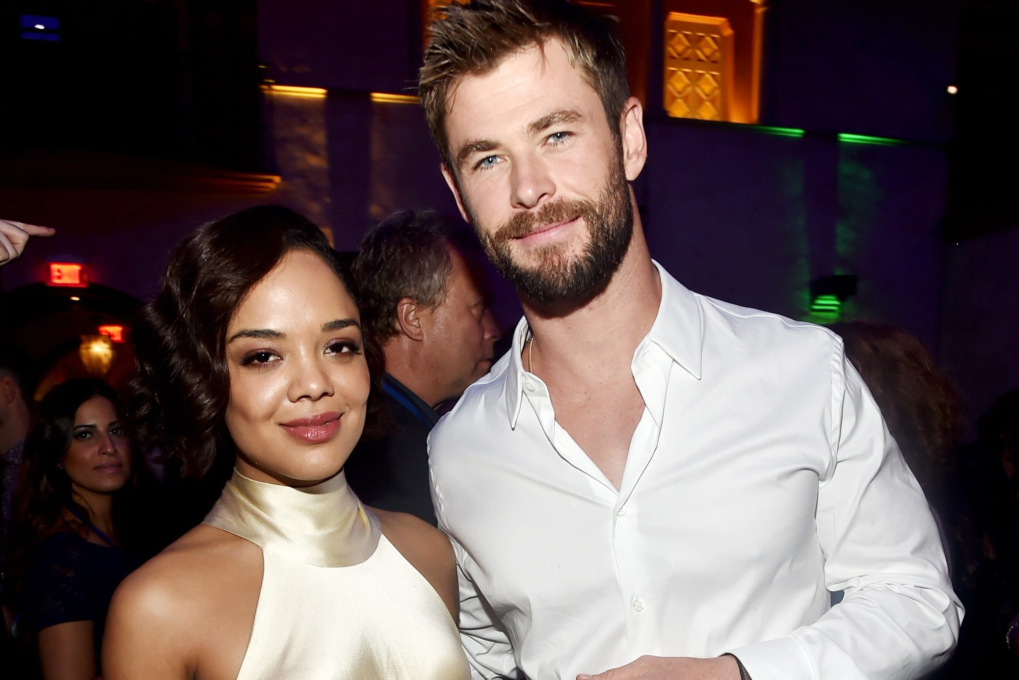 Chris Hemsworth And Tessa Thompson Make A Birthday Video For Robert Downey Jr.