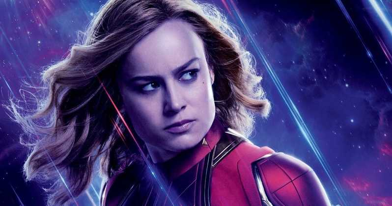 A closer look at Captain Marvel's new suit from Avengers: Endgame photos.