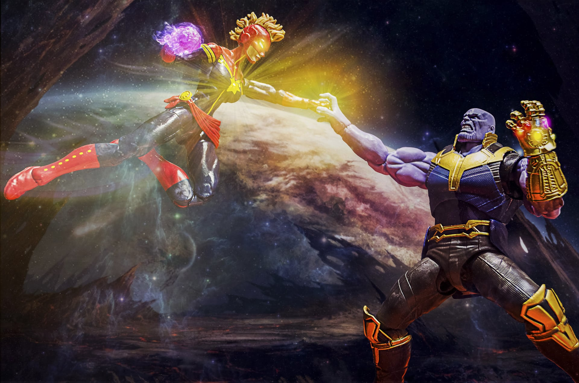 Thanos proved himself to be the most powerful Marvel Cinematic Universe's character, Better than the Captain Marvel.