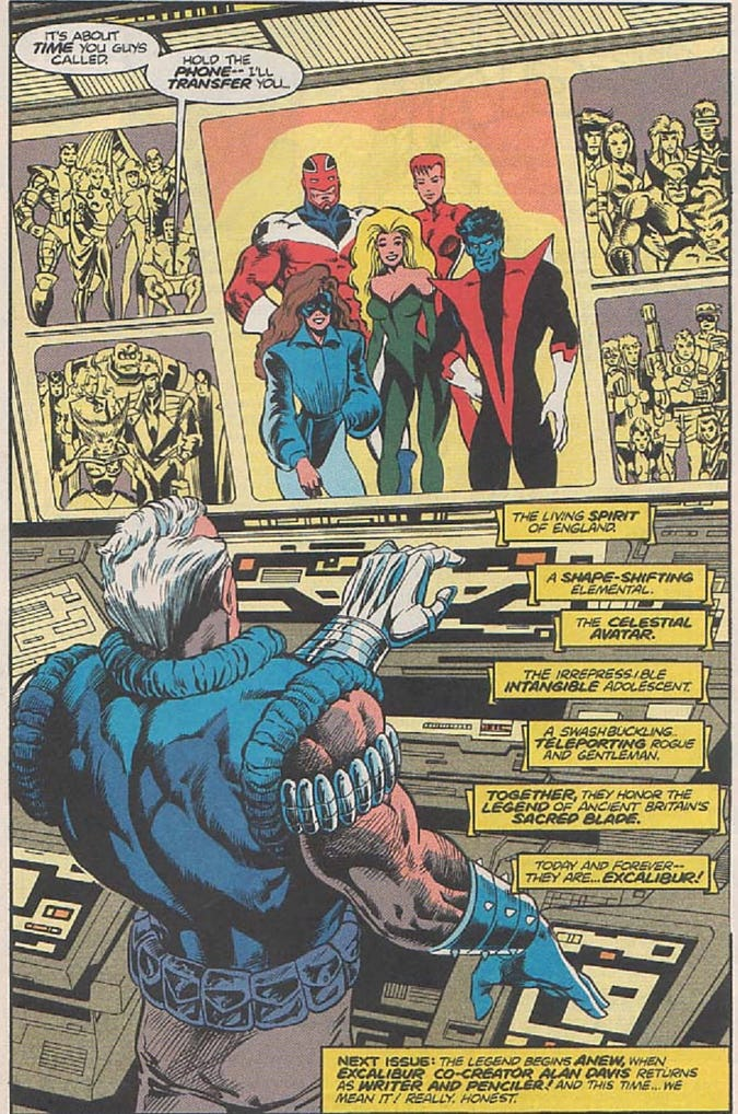 When Did Excalibur Learn That the X-Men Were Still Alive?