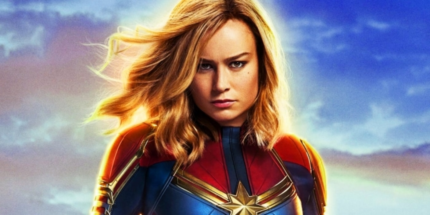 Captain Marvel played by Brie Larson