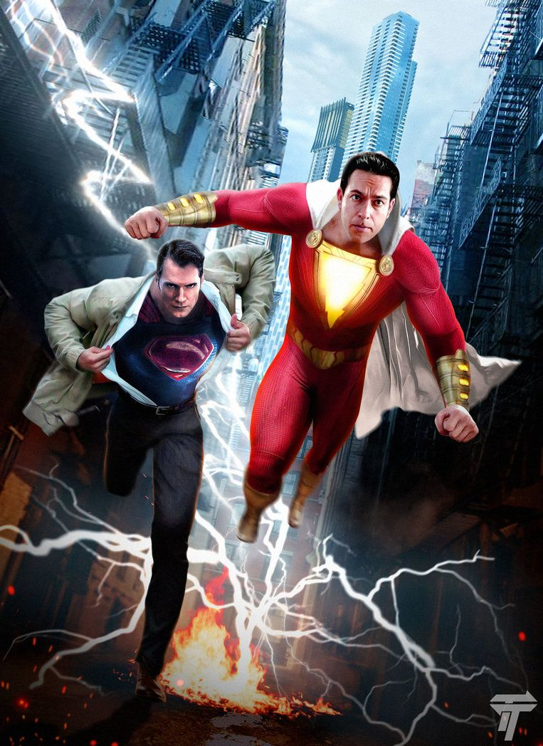 Shazam! Superman seen from the neck down is now finally revealed!!!