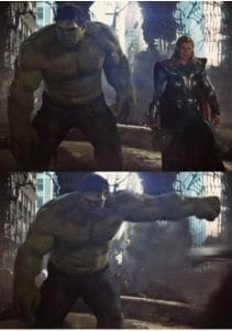 But Hulk like real fire. Hulk like raging fire. Thorr like smoldering fire.