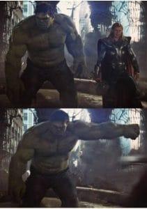 But Hulk like real fire. Hulk like raging fire. Thorr like smoldering fire.