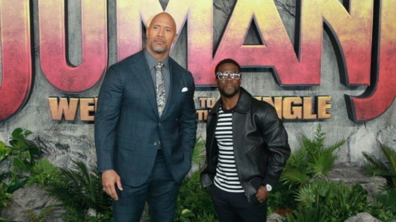 The Rock visits Kevin Hart with a Toy as a surprise