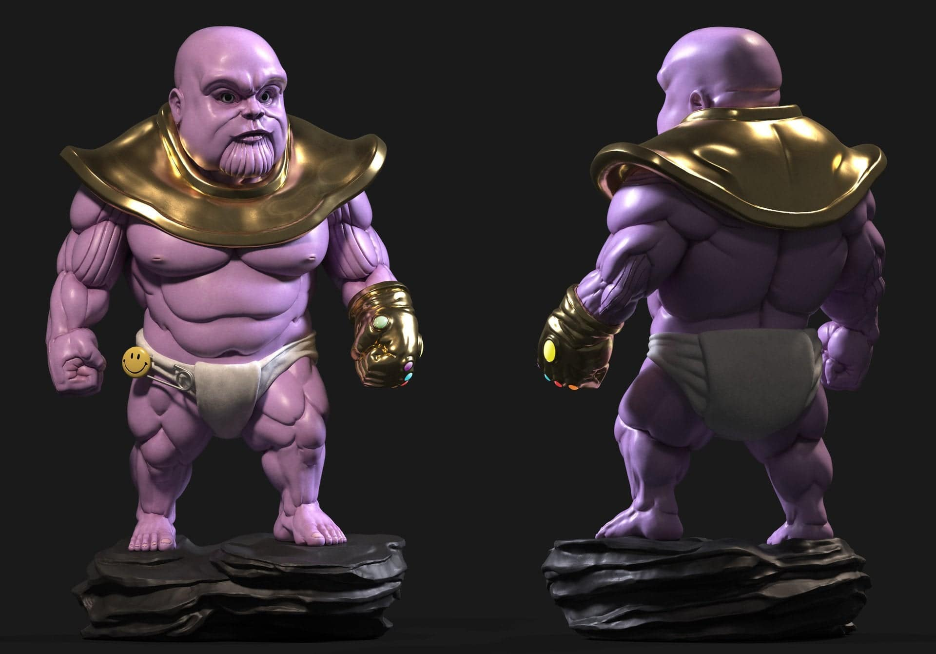 Baby Thanos is introduced in concept of the art
