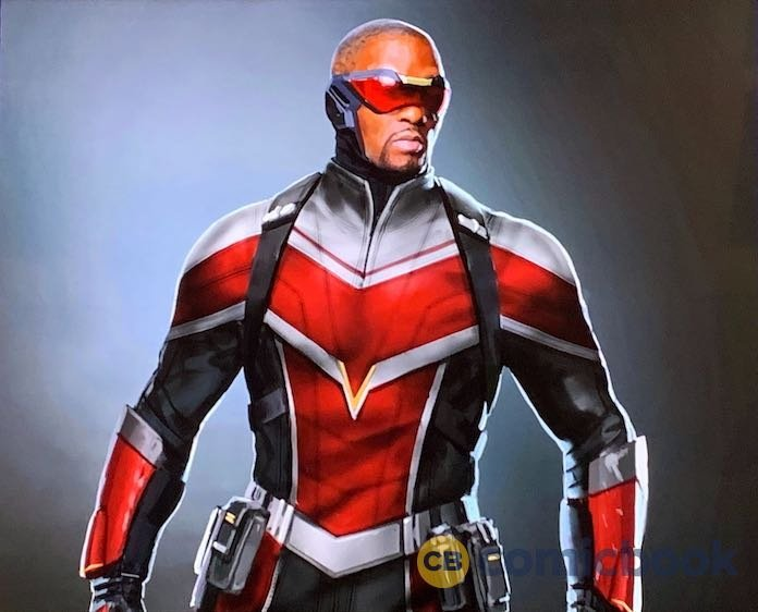 Falcon's new costume in Disney+ miniseries The Falcon and the Winter Soldier. Pic courtesy: ComicBook