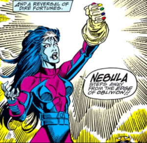 Nebula also wields the infinity gauntlet in the comics. Pic courtesy: quora.com