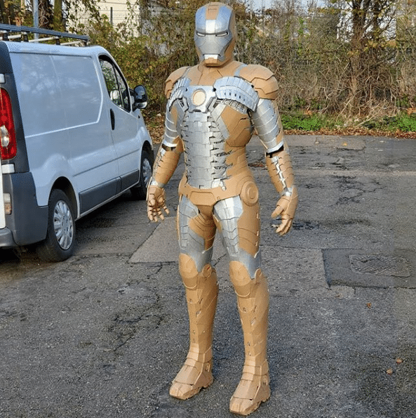 Fan Shares Iron Man Cardboard Suit