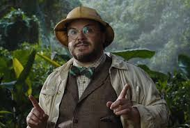 Jack Black in Jumanji.