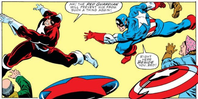 The Red Guardian is a lot more than just a shadow of Captain America. Pic courtesy: inverse.com