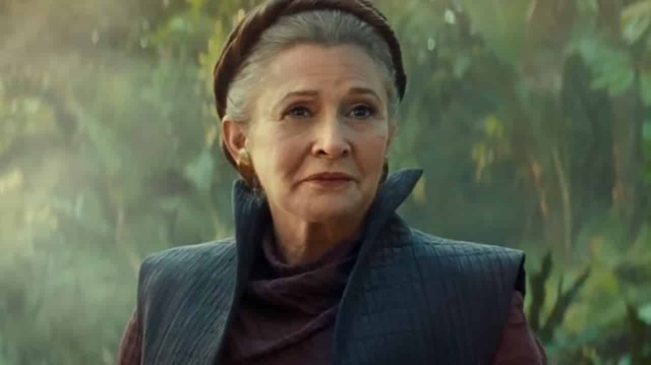 Carrie Fischer as Leia in New Star Wars: The Rise of Skywalker. Pic courtesy: Comic Book