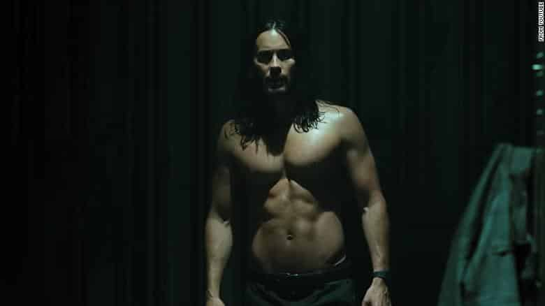Jared Leto as muscled vampire Morbius. Spider-Man is also somewhere in the trailer. Pic courtesy: cnn.com