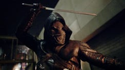 Ragman appeared in the series finale with other vigilantes to save William Queen. Pic courtesy: arrow.fandom.wiki