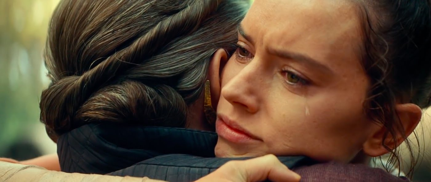 In the original Episode IX script, Rey and Leia talked about her parentage and decided that it doesn't matter. Pic courtesy: polygon.com