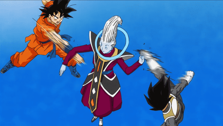 Goku won't ever be able to decode what Whis is saying. Pic courtesy: Dragonball.fandom.com