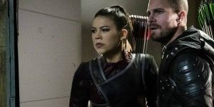 Image of Emiko Queen with Green Arrow