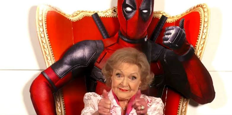 Deadpool wishes the 96 year old Betty White - Animated Times