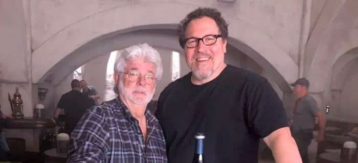 George Lucas helped Jon Favreau get the Mandalorian job. Pic courtesy: thewrap.com