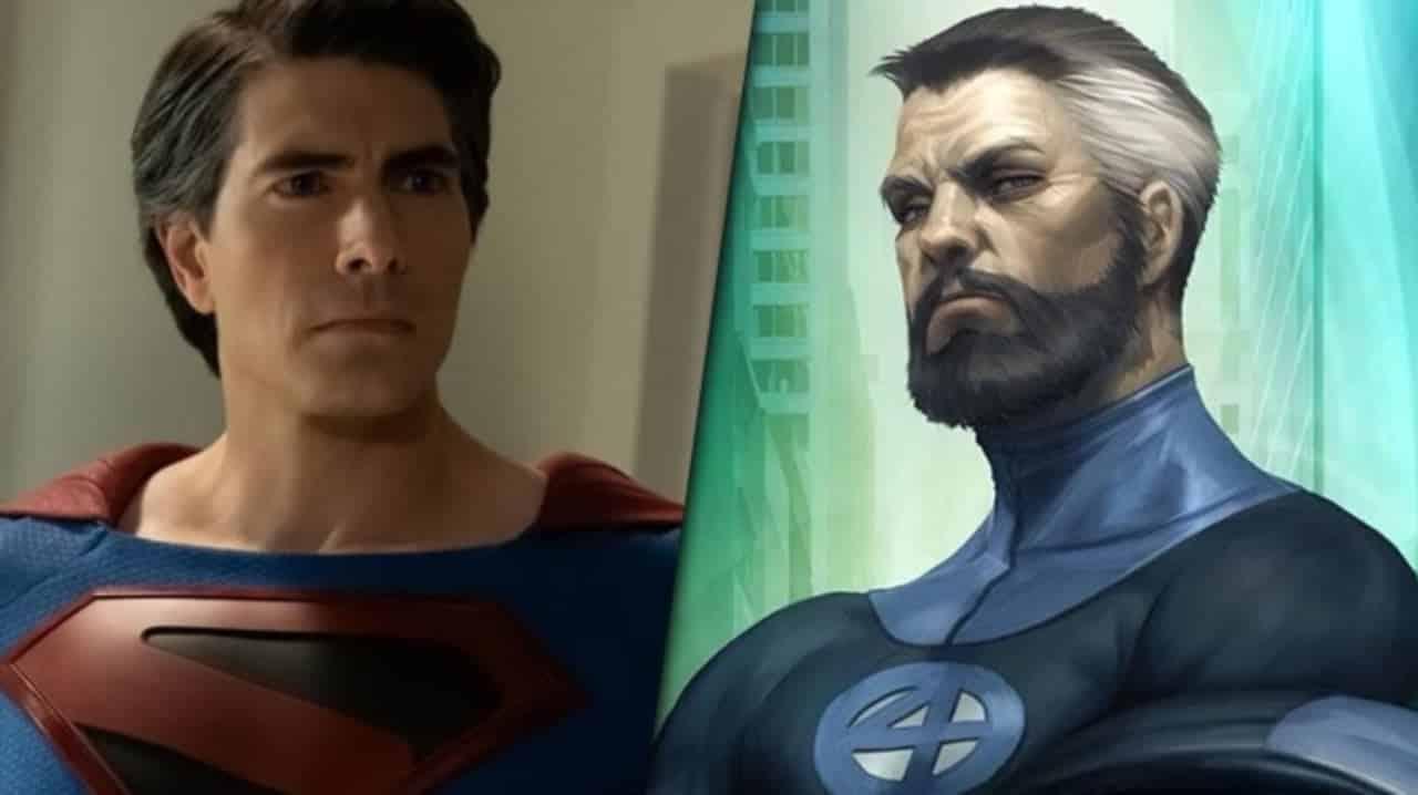 Fan art depicts Superman as Mister Fantastic