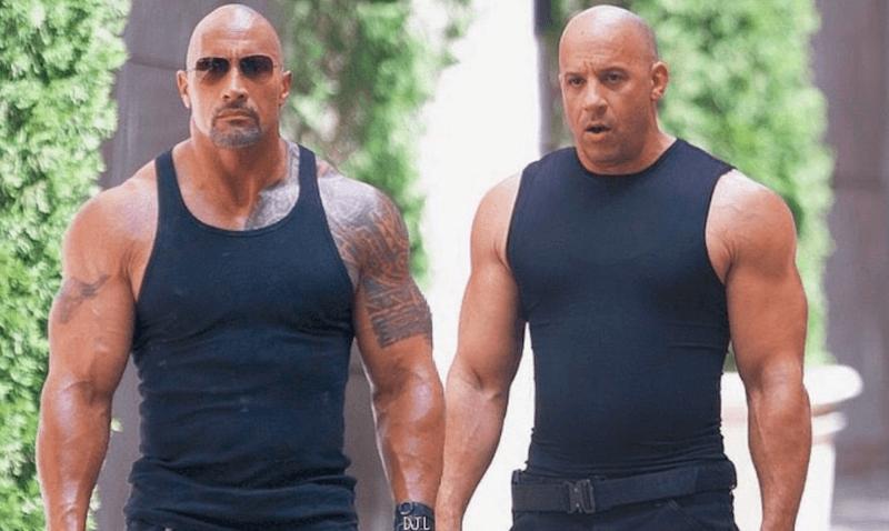 Vin Diesel and Dwayne