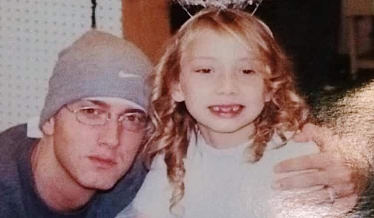 Eminem with Hailie, his daughter