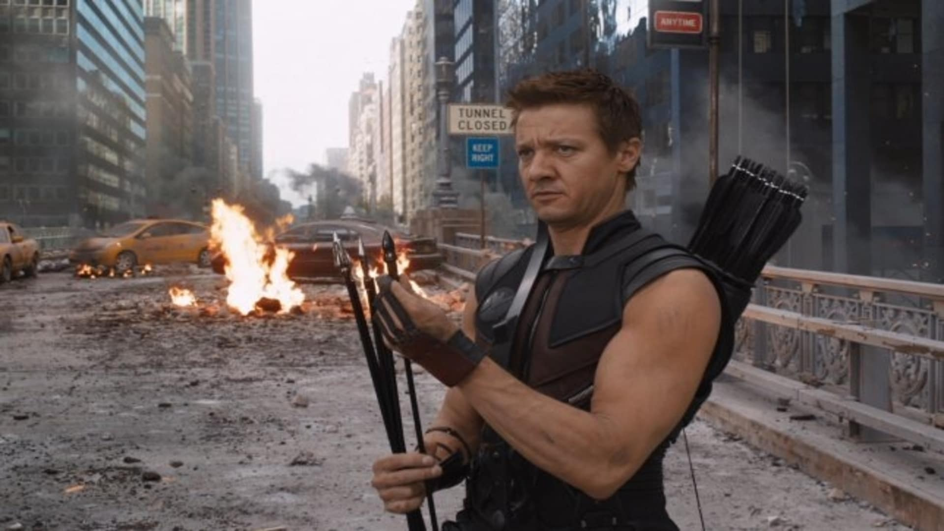 Avengers Hawkeye fight scene
