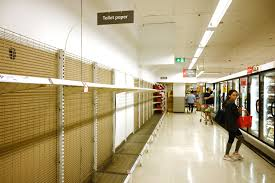 Toilet Paper Shelves left empty in Shopping Marts