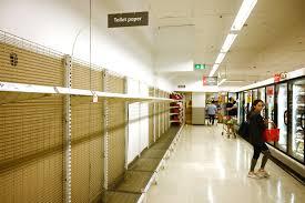 Toilet Paper Shelves left empty in Shopping Marts