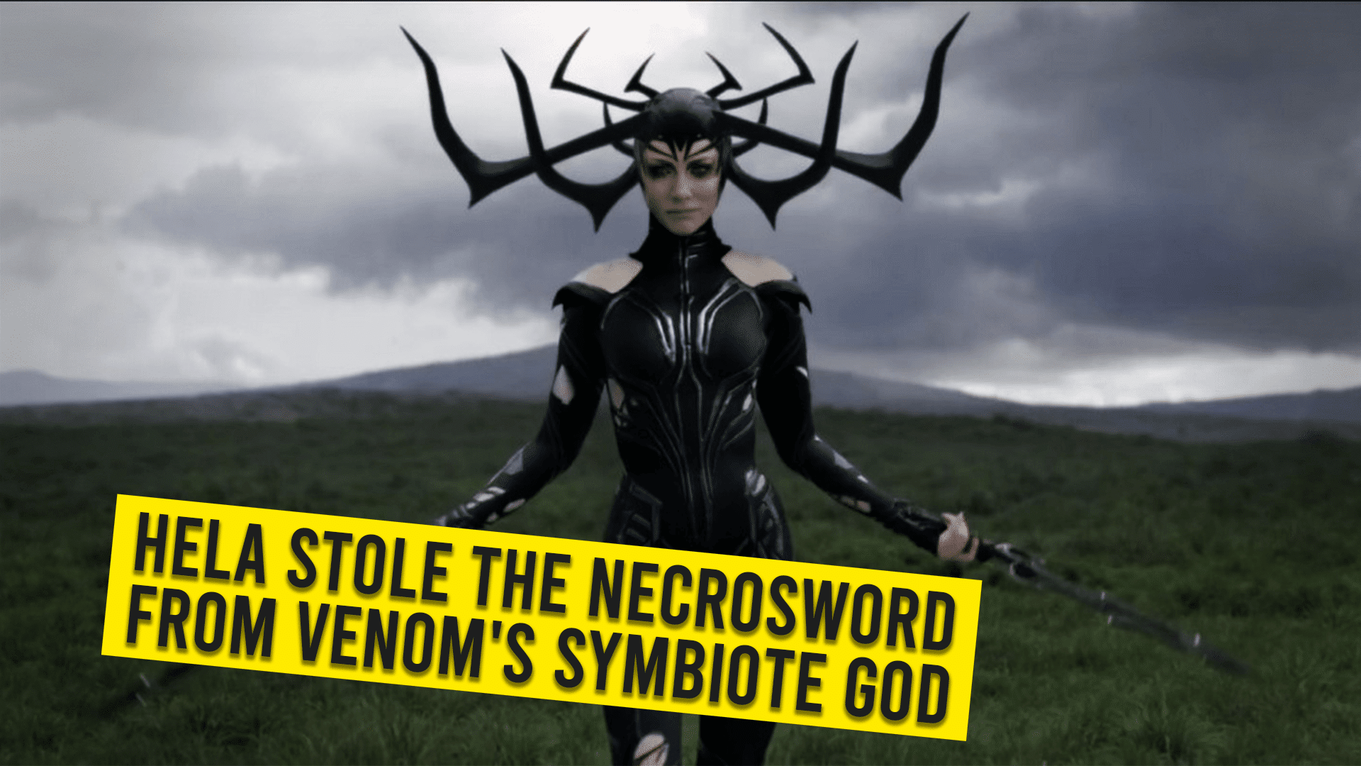 Hela Stole the Necrosword from Venom's Symbiote God