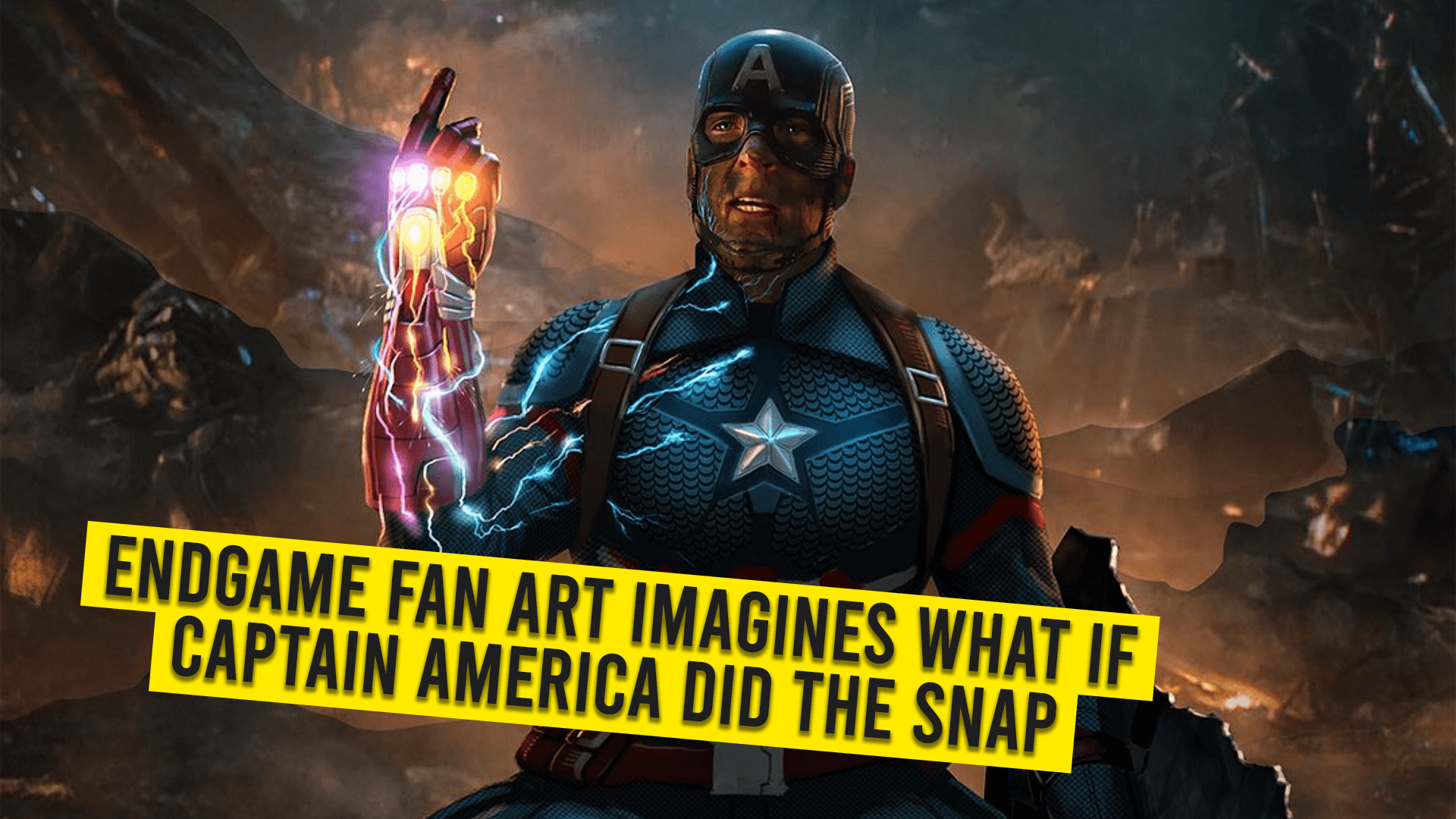 Endgame Fan Art Imagines What If Captain America Did The Snap