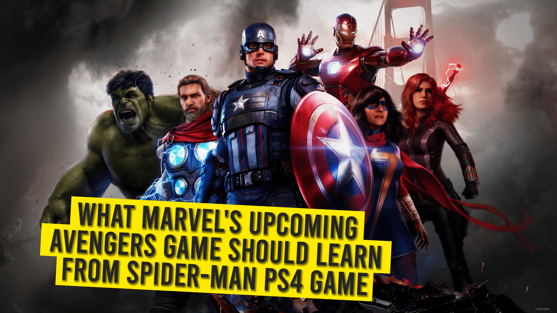 What Marvel's Upcoming Avengers Game Should Learn From Spider-Man PS4 Game