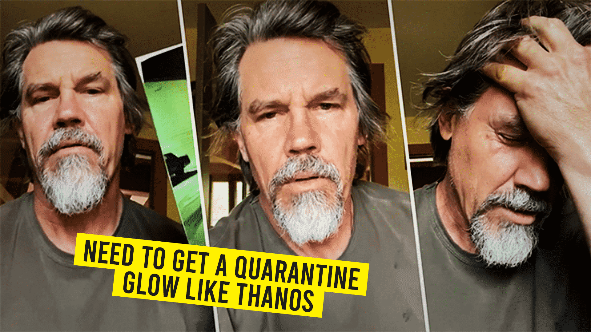 Need to get a quarantine glow like thanos