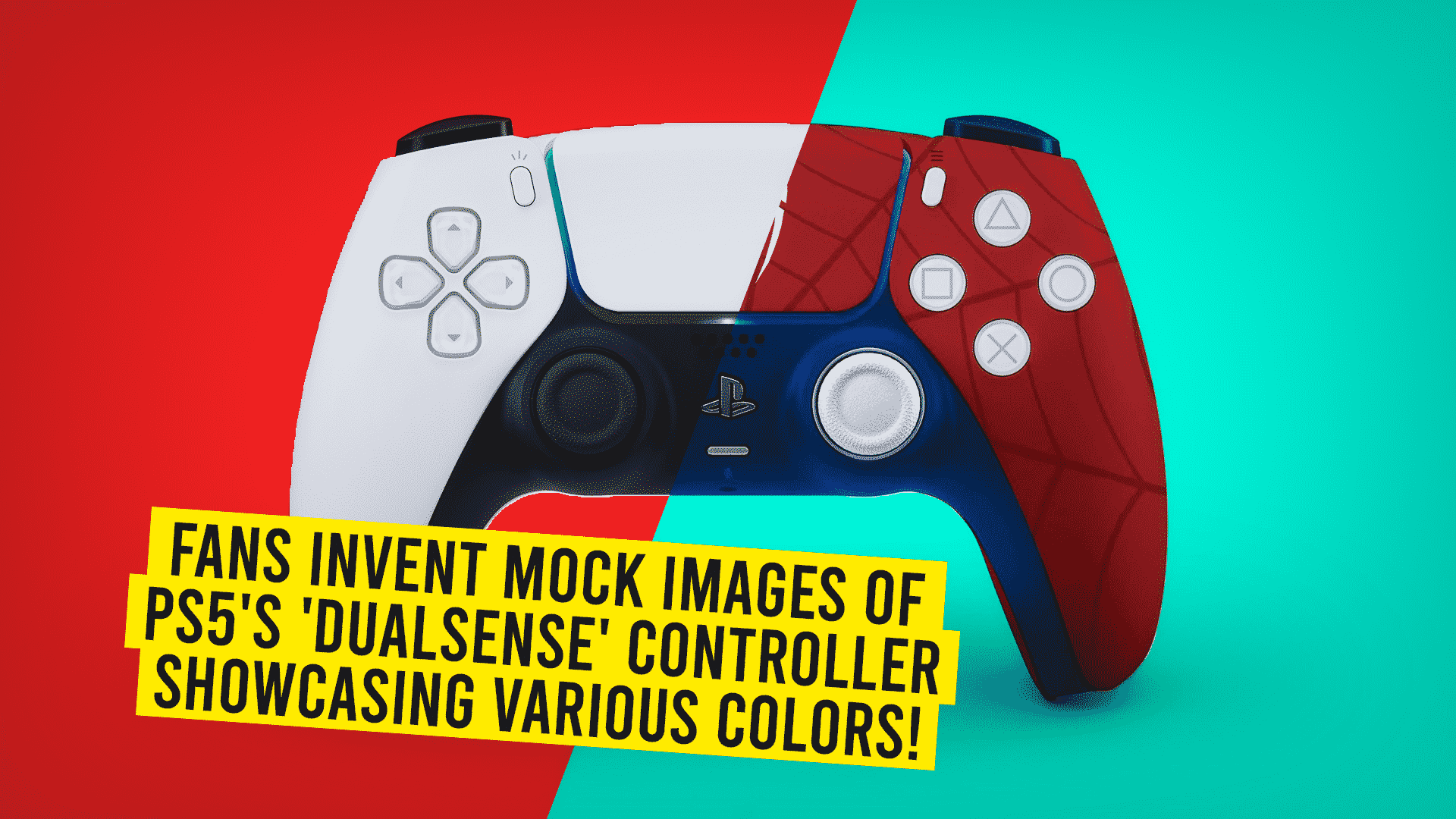 Fans Invent Mock Images of PS5's 'DualSense' Controller Showcasing Various Colors!