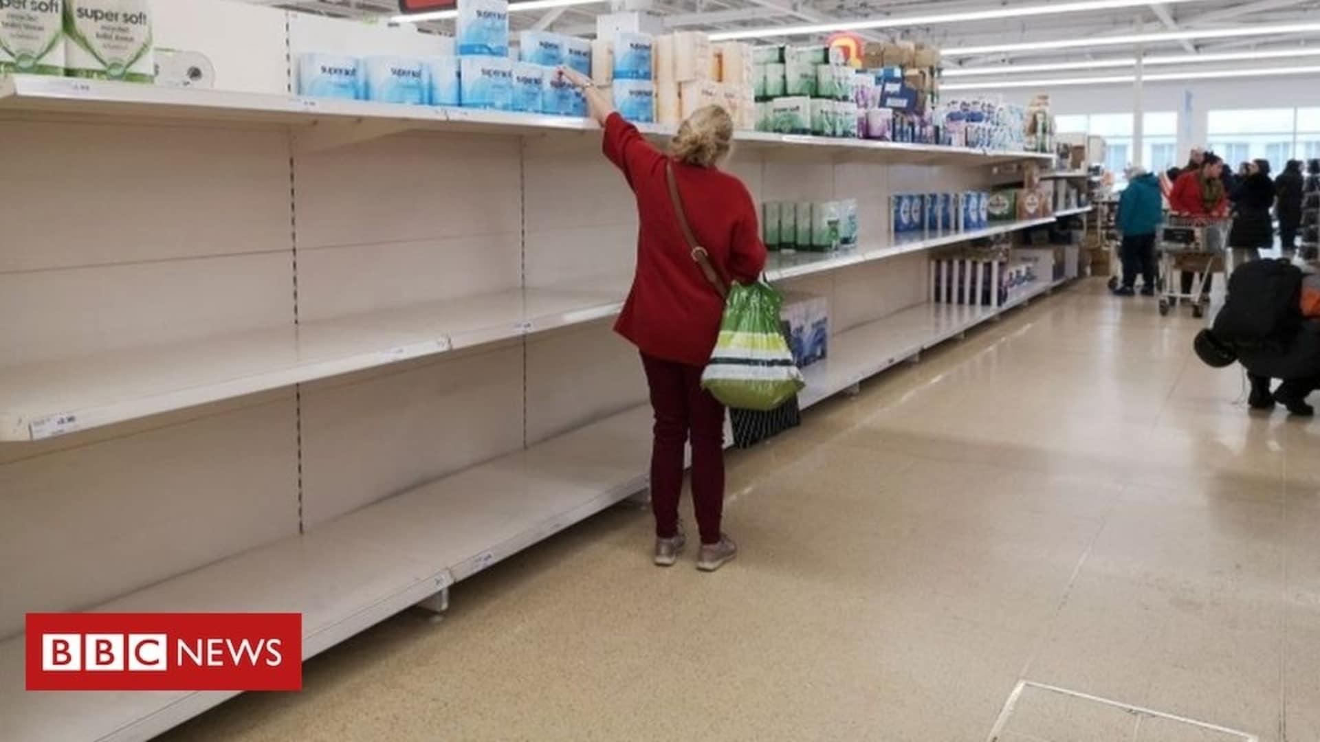 Coronavirus has led to empty shelves in supermarkets