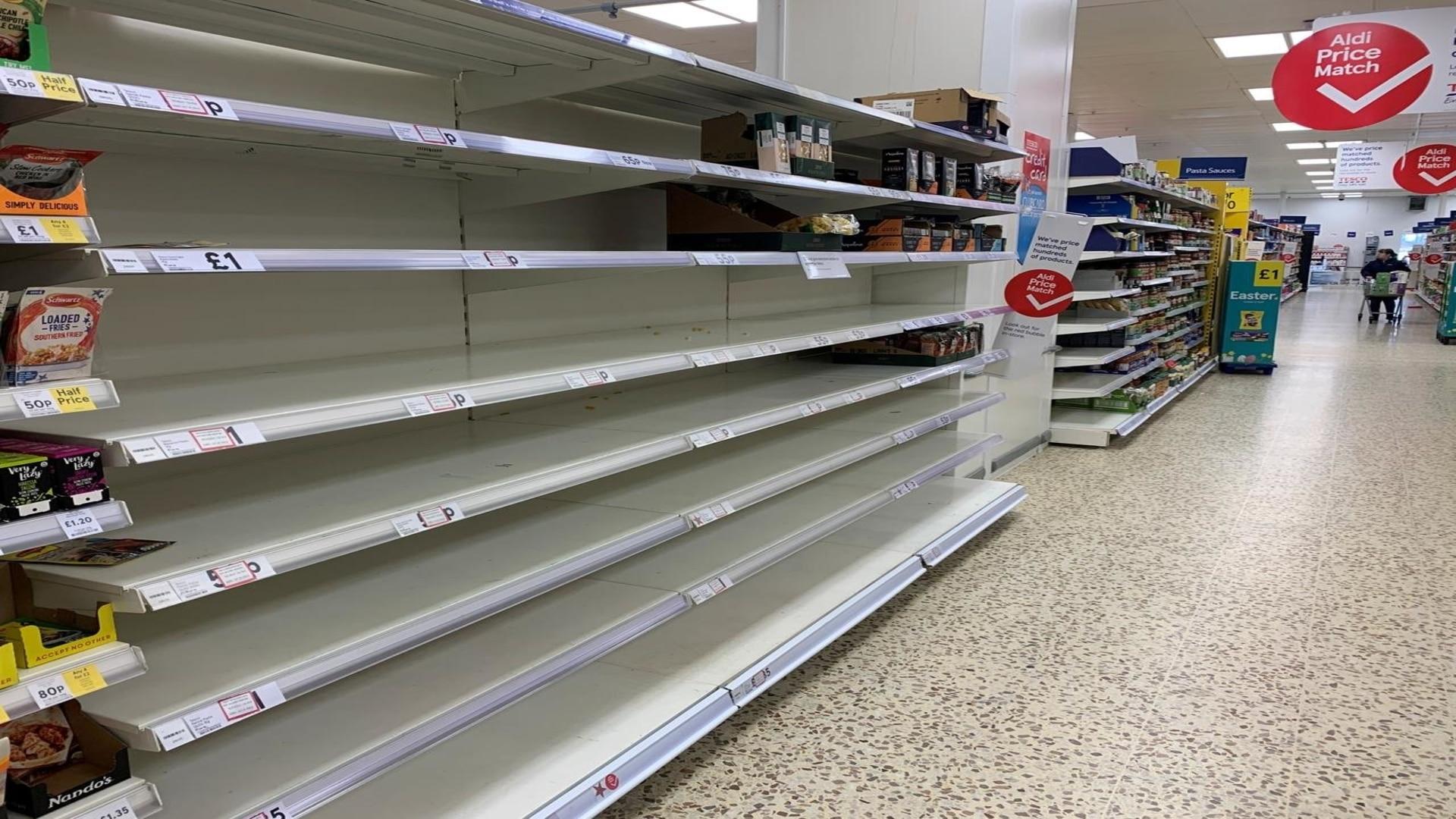 People have rushed towards panic buy ing