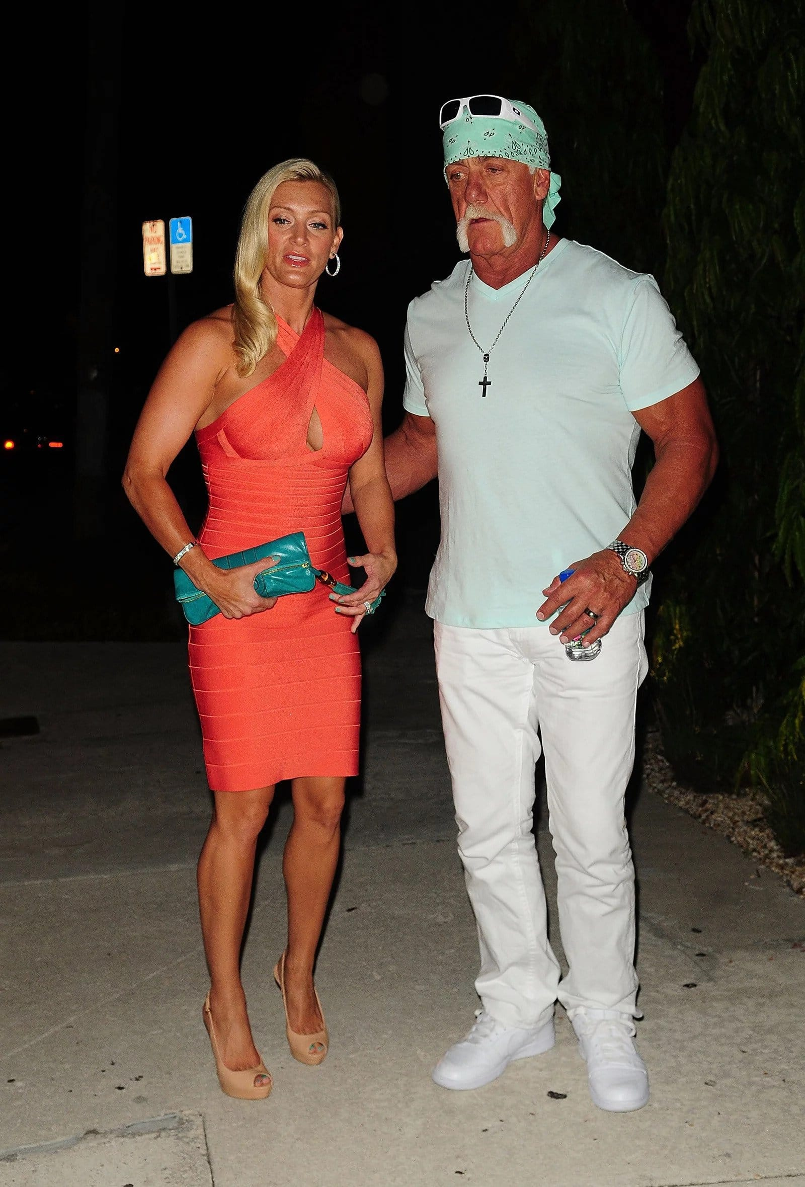 Hulk Hogan with his wife Jennifer