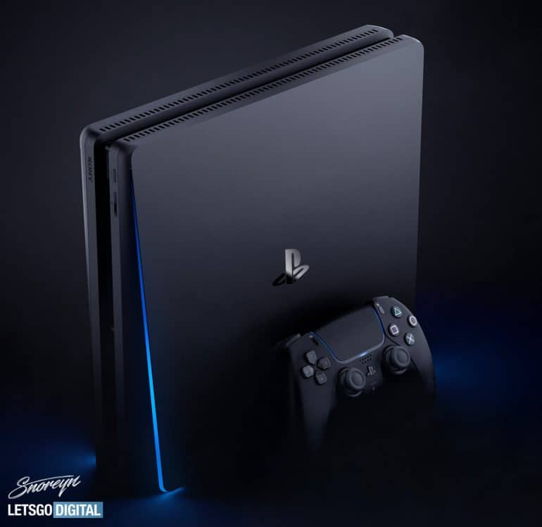 PS5 side profile