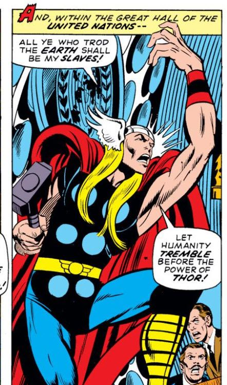 Comic representation of Thor in the Trojan war.