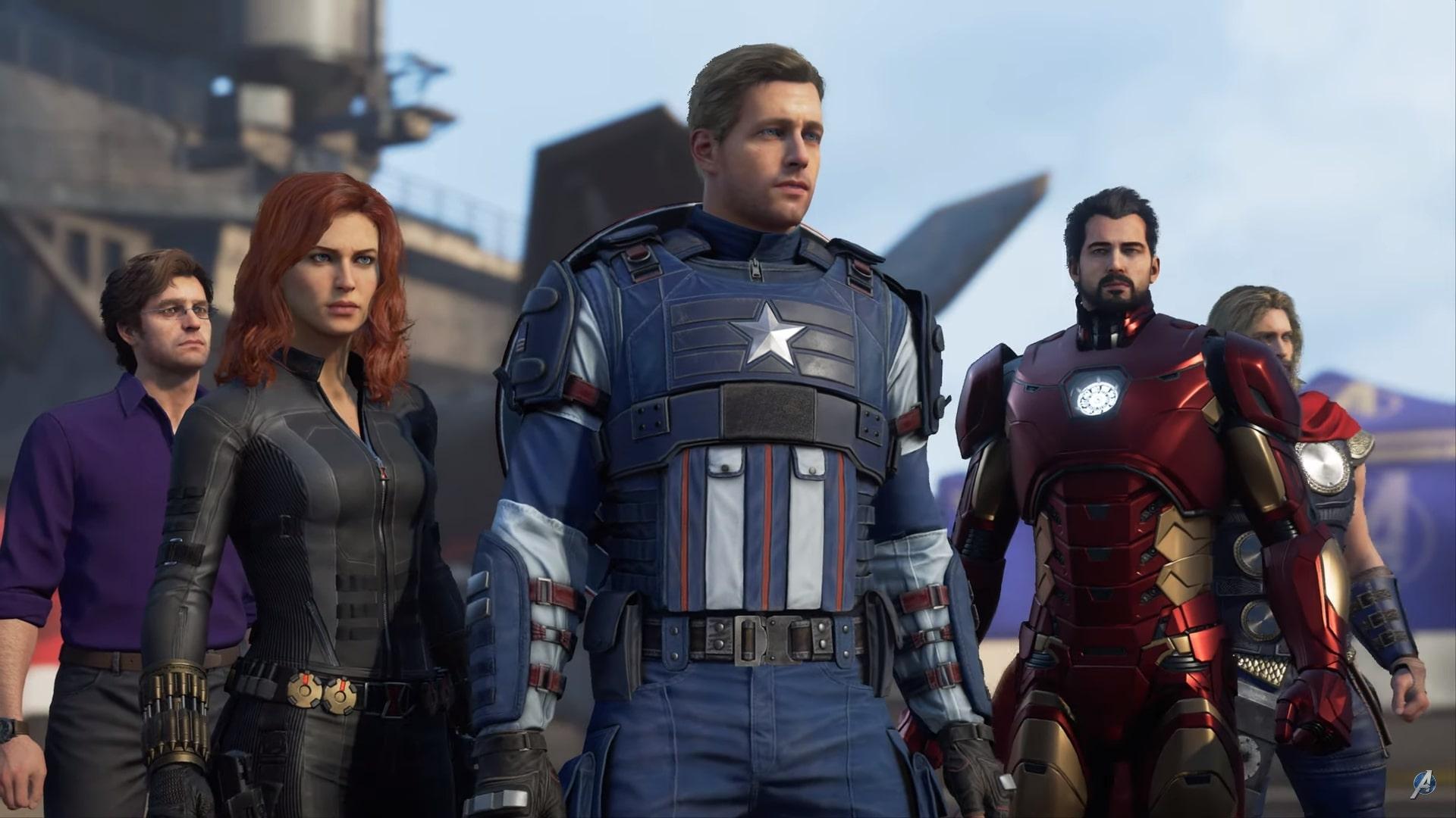 The marvel's Avengers game poster