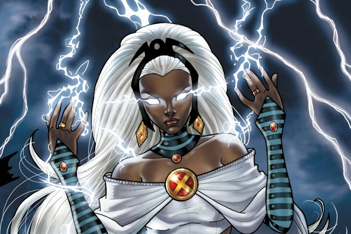 Comic representation of storm
