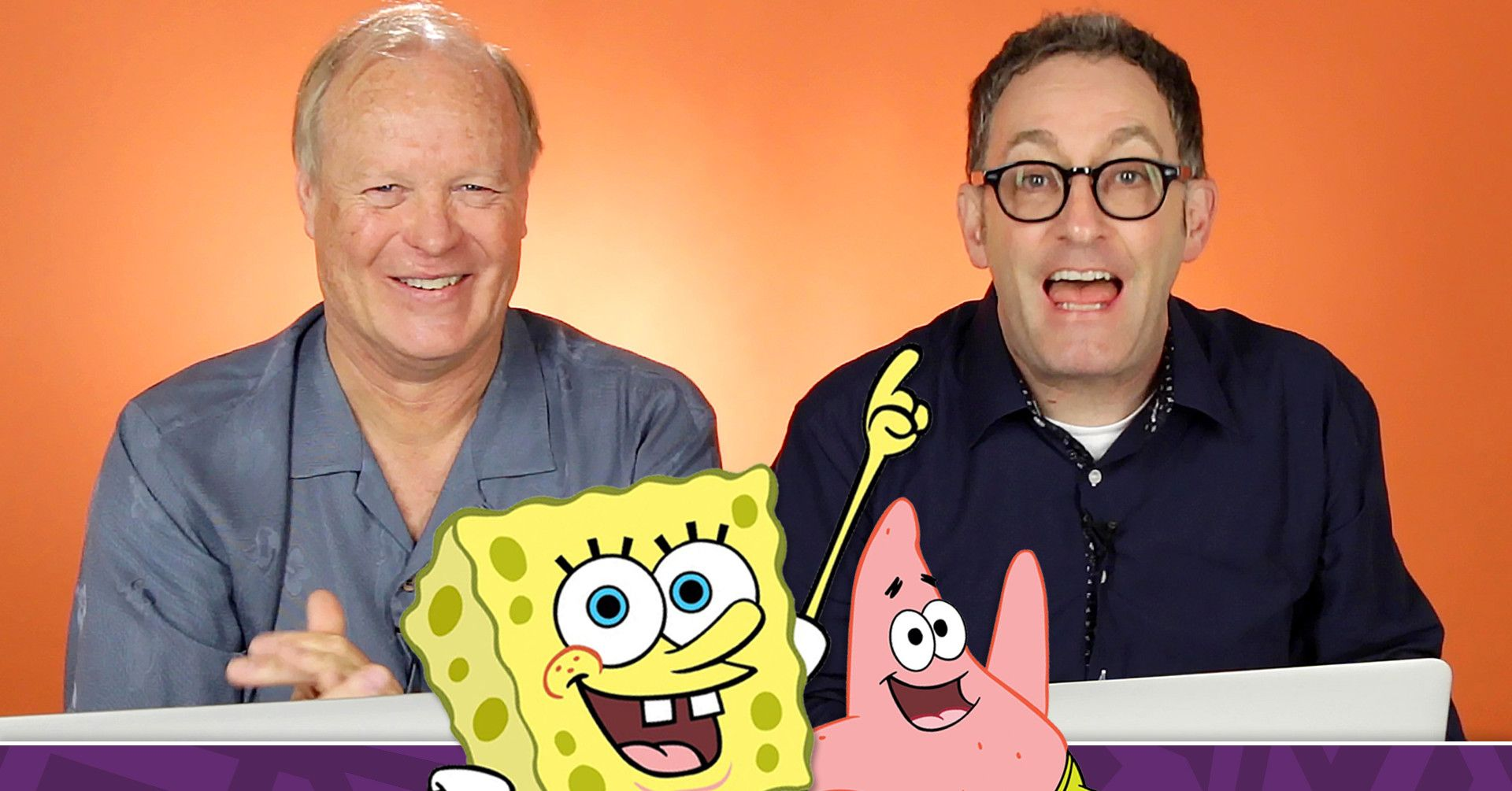 Tom Kenny and Bill Fagerbakke, the voices behind main characters